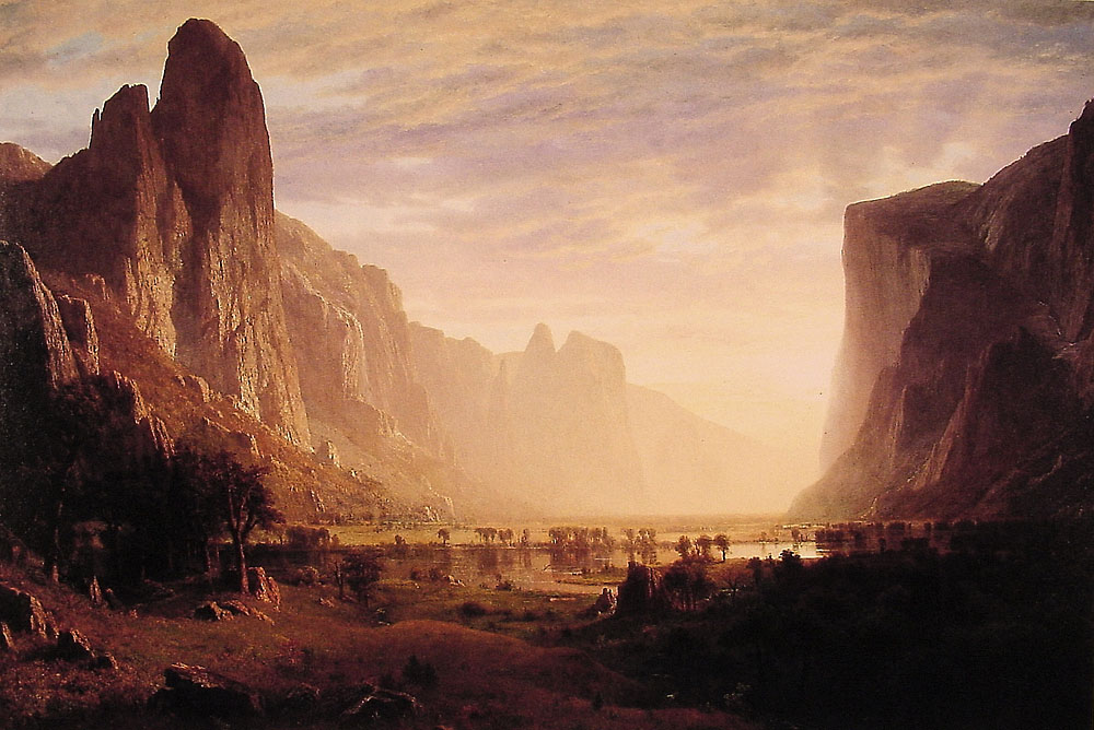 Albert Bierstadt (1830-1902)  Looking Down Yosemite Valley, California  Oil on canvas, 1865  64 x 96 1/4 inches (162.6 x 244.5 cm)  Birmingham Museum of Art, Birmingham